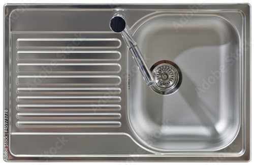 Leinwandbild Motiv Water Tap and Sink Cutout