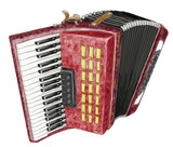 Accordion. Watercolor imitation.
