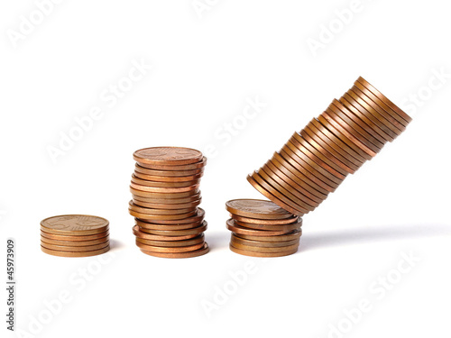 Three stacks of coins 2