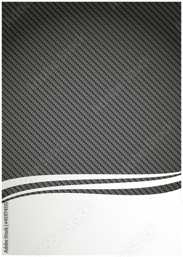 Carbon fiber background and clear footer