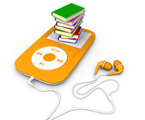 Book and mp3 player