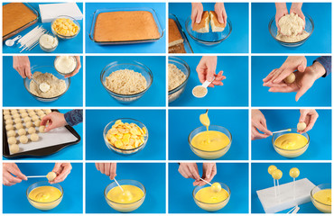 Cake pops step by step
