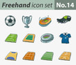 Freehand icon set - sports