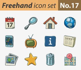 Freehand icon set - internet