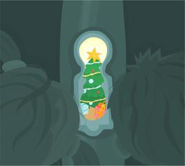 Christmas tree - through the keyhole