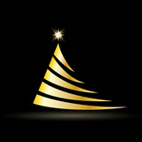 Vector Creative Golden Christmas tree