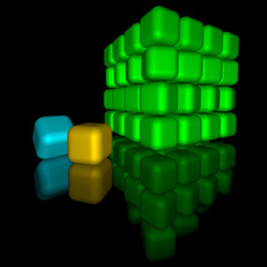light color round cubes