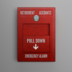 Hand Pulling Retirement Accounts Alarm