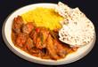 Indian Chicken Tikka Jalfrezi Curry Dinner