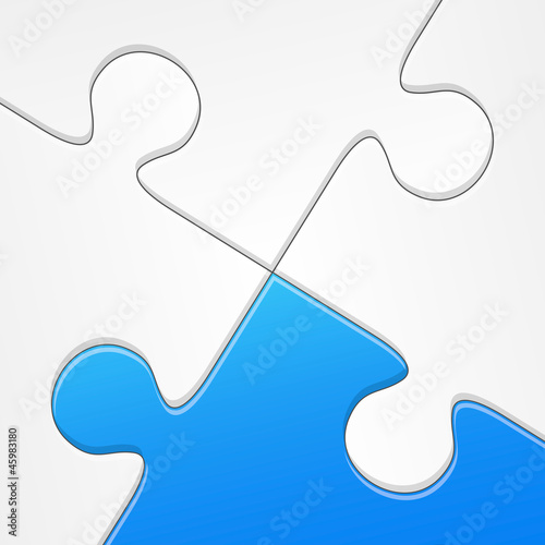 Vector puzzle blue concept solution