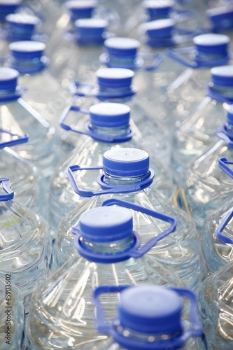 Several bottles of plain water