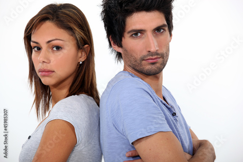 Couple in a bad mood
