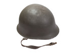 Austrian army helmet isolated on a white background