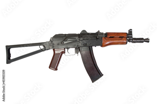kalashnikov aks74u isolated on a white background