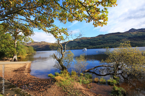 Loch Lomond in October, Scotland, UK