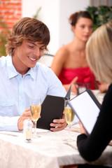 Date in a restaurant