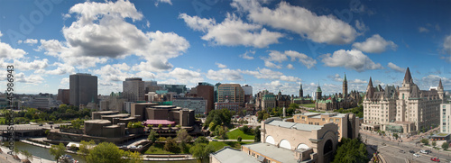 Foto op Canvas Canada Panorama view of Ottawa skyline, Canada