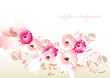 Abstract flower background with space for text