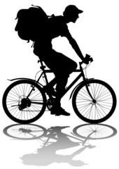 Cyclist whit bag