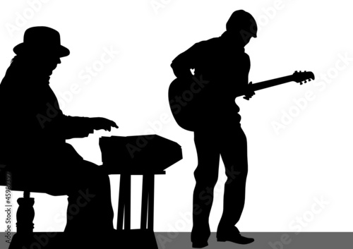 Guitarist and a pianist
