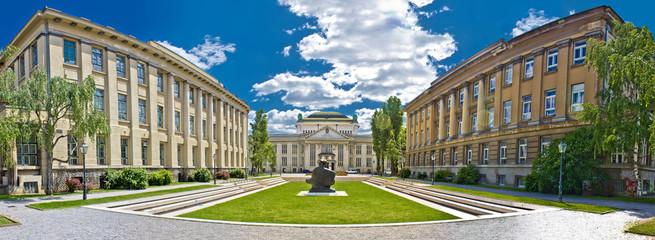 Zagreb architecture panoramic view, Croatia
