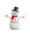 Cartoon snowman  with a red scarf