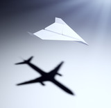 Paper airplane with big aspirations poster
