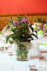 decoration from wedding table