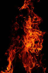 red flames background