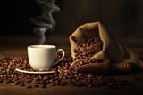 Fototapety tazzina di caffè fumante