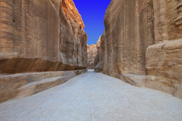 As-Siq Petra, Lost rock city of Jordan.  UNESCO world heritage s
