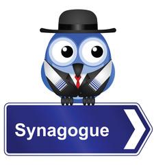 Jewish Synagogue sign