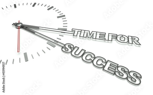 Clock with words Time for success, concept of business