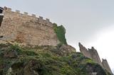 Castillo de la sierra del Montseny en un dia nublado. Catalunya poster