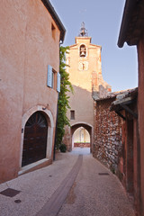The clock tower in Roussillon.