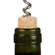 Korkenzieher in einer Weinflasche