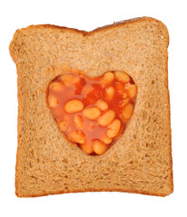 love baked beans and toast