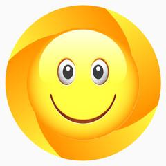 Vector Smiley Button