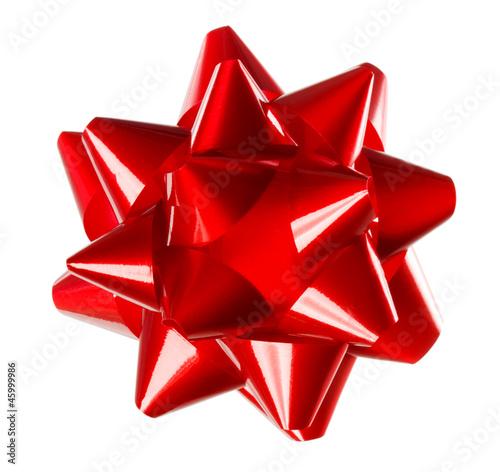 Leinwandbild Motiv Red Gift Bow