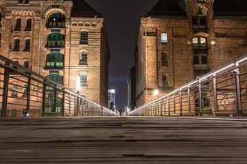 Hamburg, Germany at night