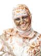 portrait of cheerful smiling mummy