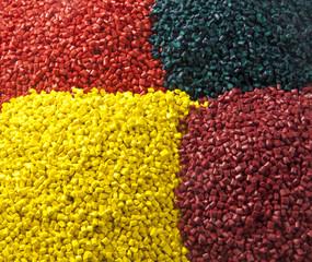 Plastic masterbatch granules