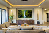 Home Theater in New Modern House