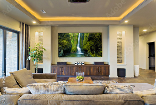 Home Theater in New Modern House - 46003559