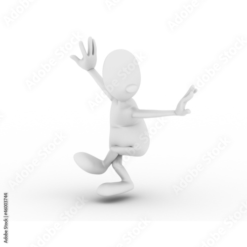 character is engaged in gymnastics Wushu