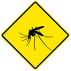 Danger sign - mosquito