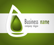 Company business logo 3D green design