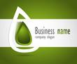 Company business logo 3D green design