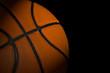 Basketball ball on dark background