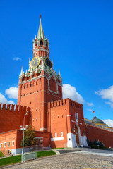 Spasskaya tower at Red Square in Moscow